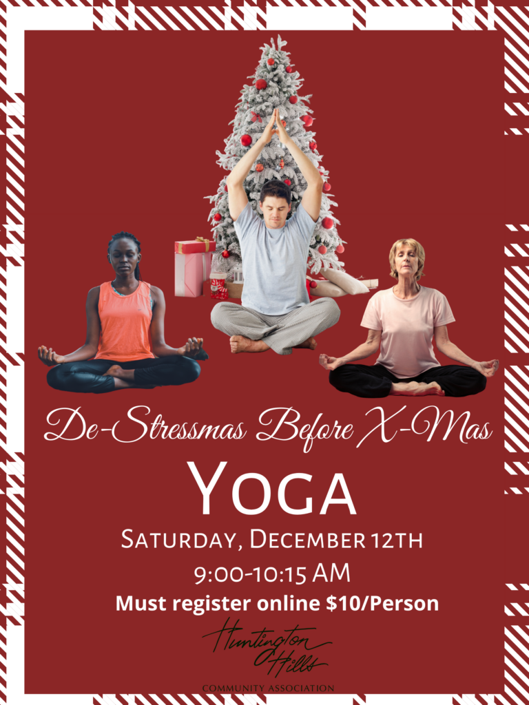 De-Stressmas Before X-Mas Yoga December 12th! Register Today